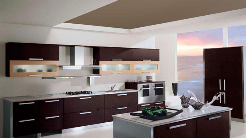 Cocinas de madera modernas mm for Ver cocinas modernas