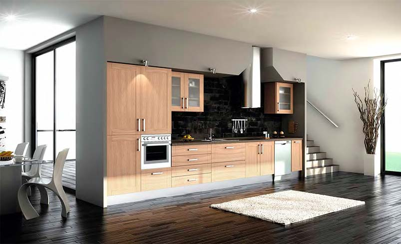 cocinas de madera modernas mm. Black Bedroom Furniture Sets. Home Design Ideas
