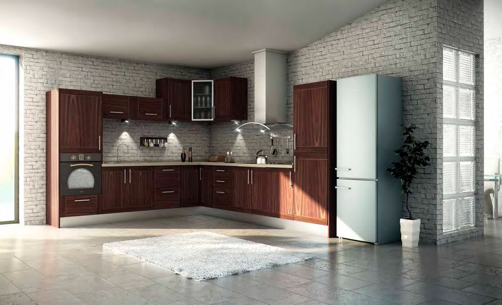 Cocinas de madera r stica mm for Modelos de cocinas rusticas