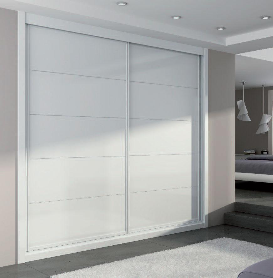 Puertas correderas blancas armarios materiales de - Puertas correderas blancas ...