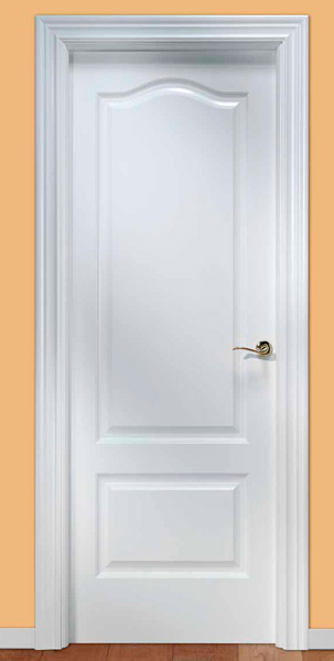 Puertas lacadas blancas mm for Puertas de madera blancas para exterior