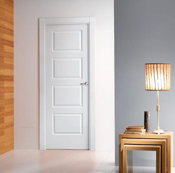 Puertas lacadas blancas mm for Puertas para interior baratas