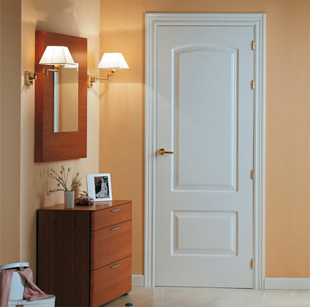 Puertas lacadas blancas mm for Puertas macizas exterior