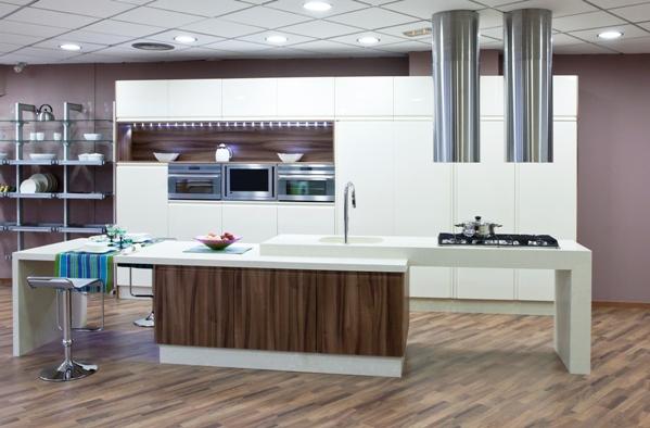 Cocinas de madera modernas mm for Cocinas modernas valencia