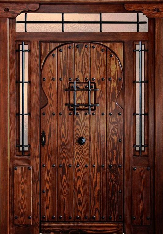 Puerta exterior r stica modelo tabla capilla mm for Puertas de cocina rusticas